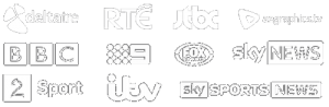 channel logos white